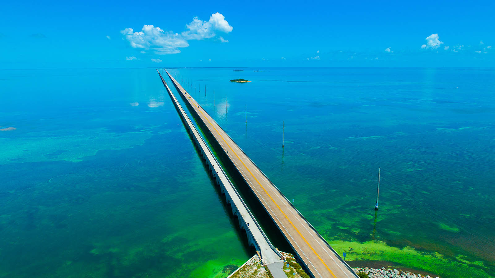 vantage7 mile bridge. Aerial view. Florida Keys, Marathon, USA.-about-us